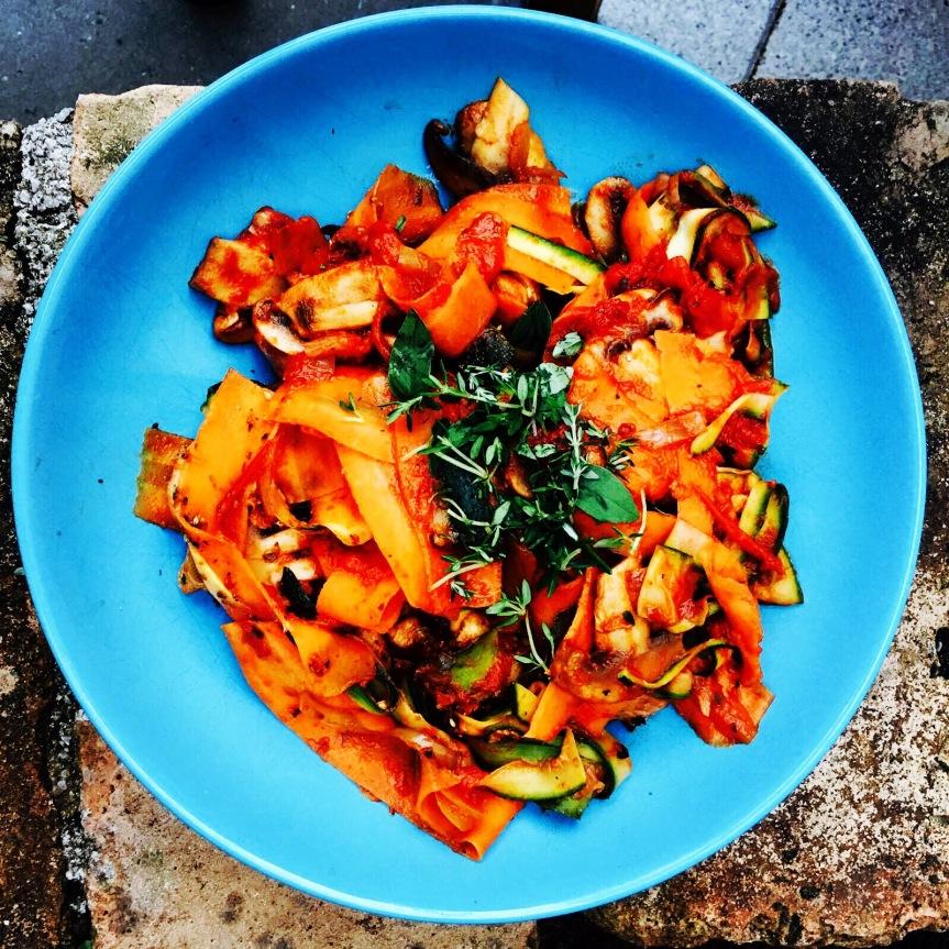 Karotten-Zucchini-Pasta