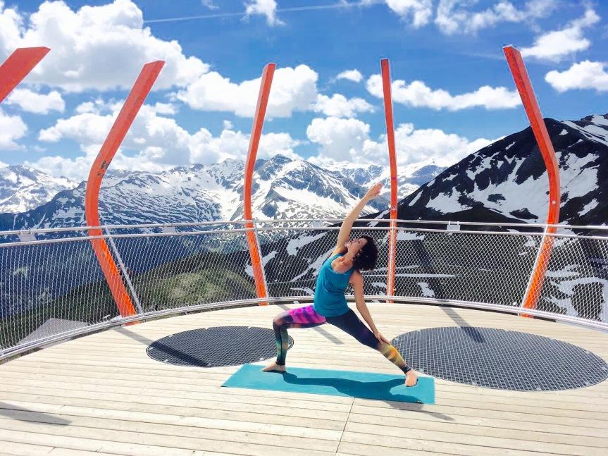 Yoga am Gipfel