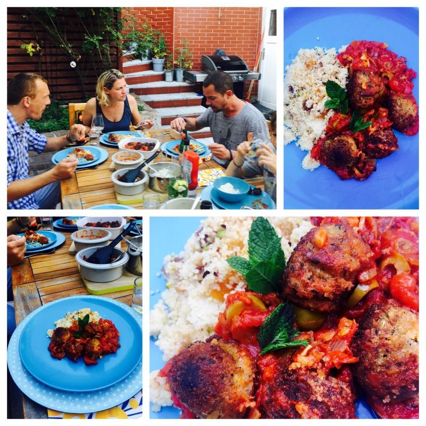 Marokko: Falafel in Tomatensauce mit Pistazien-Couscous