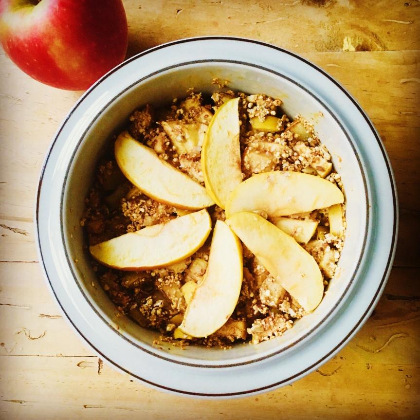 Baked Apfel-Oatmeal